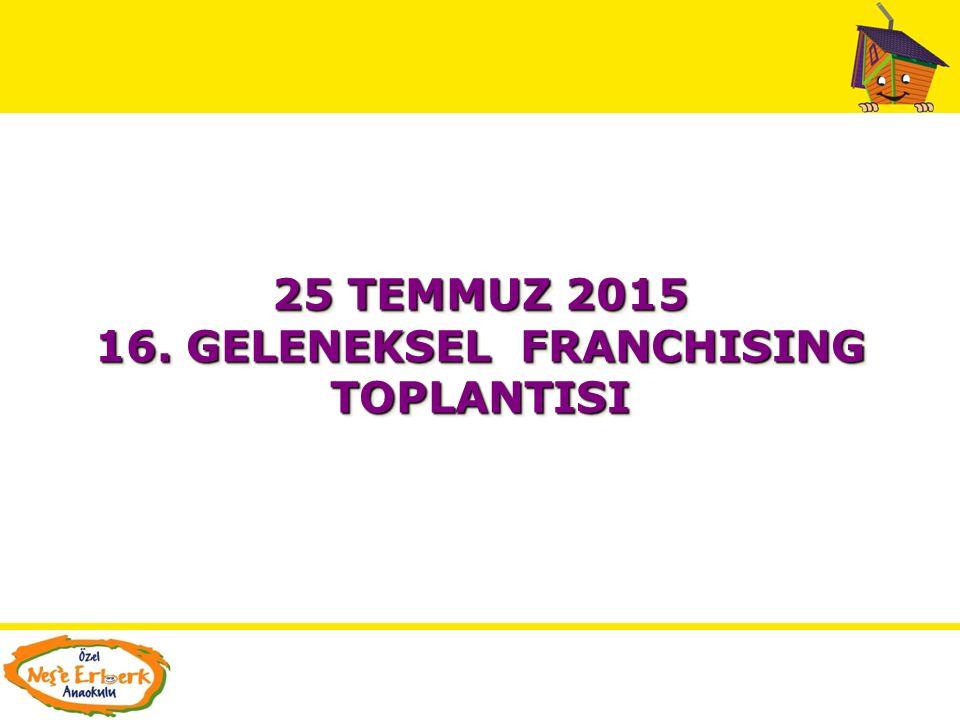 16. GELENEKSEL FRANCHISING TOPLANTISI
