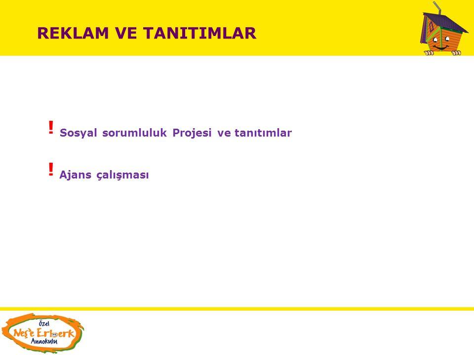 ! Sosyal sorumluluk Projesi ve tanıtımlar ! Ajans çalışması