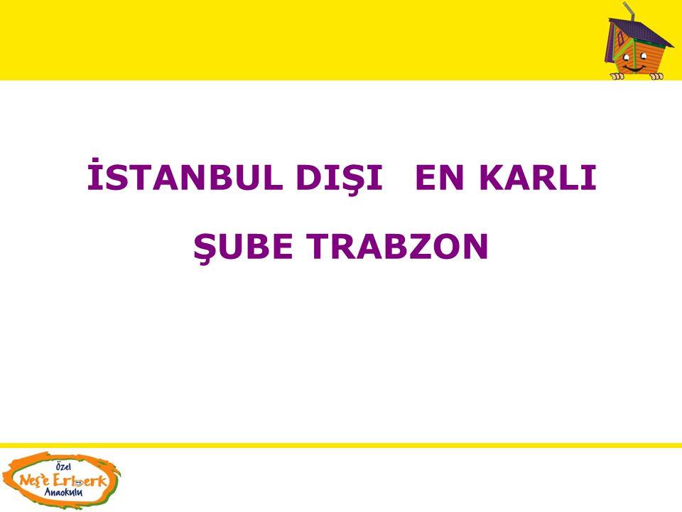 İSTANBUL DIŞI EN KARLI ŞUBE TRABZON