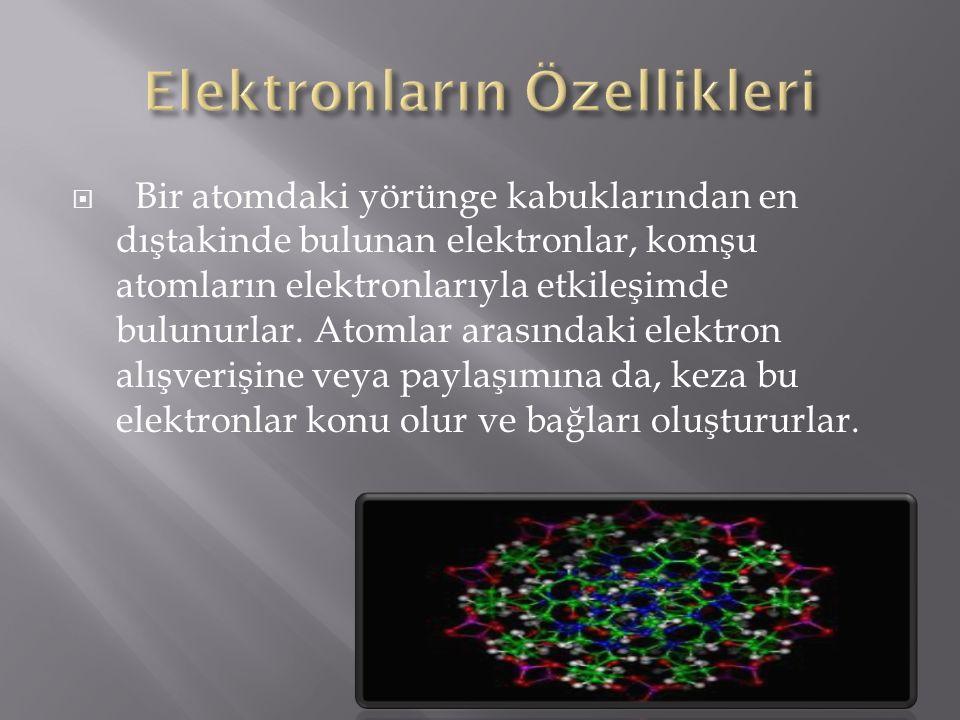 Elektronların Özellikleri
