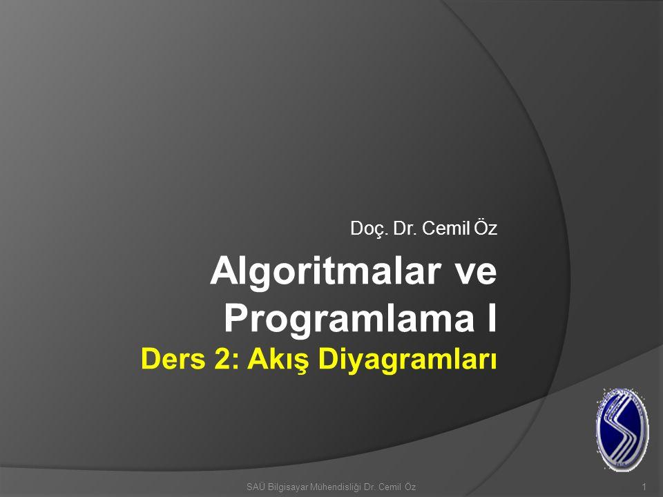 Algoritmalar ve Programlama I Ders 2: Akış Diyagramları