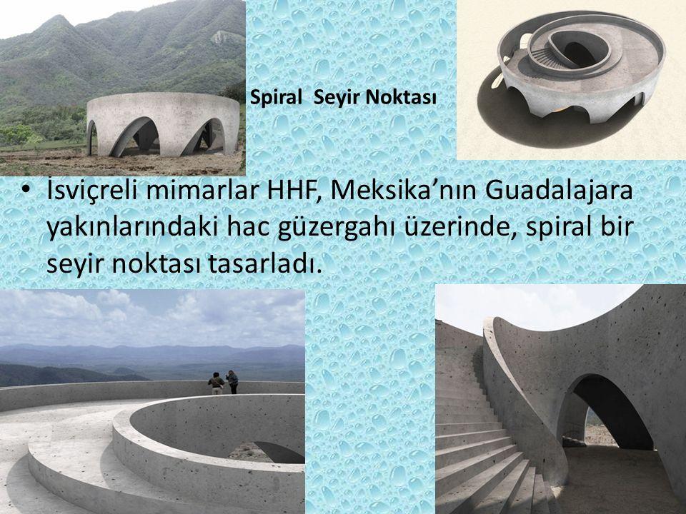 Spiral Seyir Noktası İsviçreli mimarlar HHF, Meksika'nın Guadalajara yakınlarındaki hac güzergahı üzerinde, spiral bir seyir noktası tasarladı.