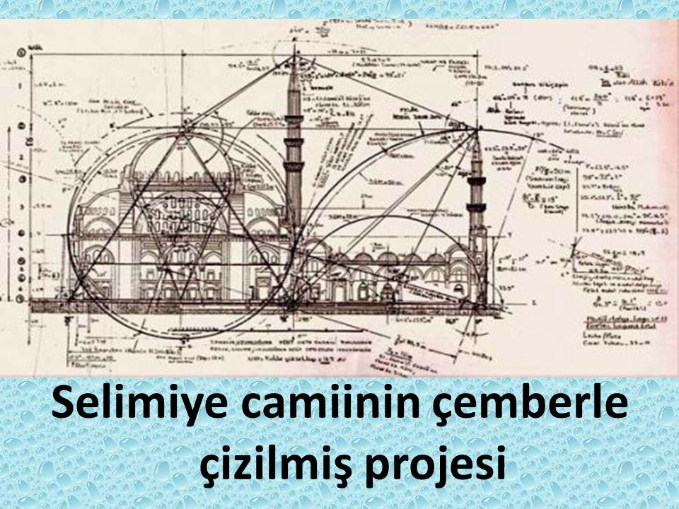 Selimiye camiinin çemberle çizilmiş projesi