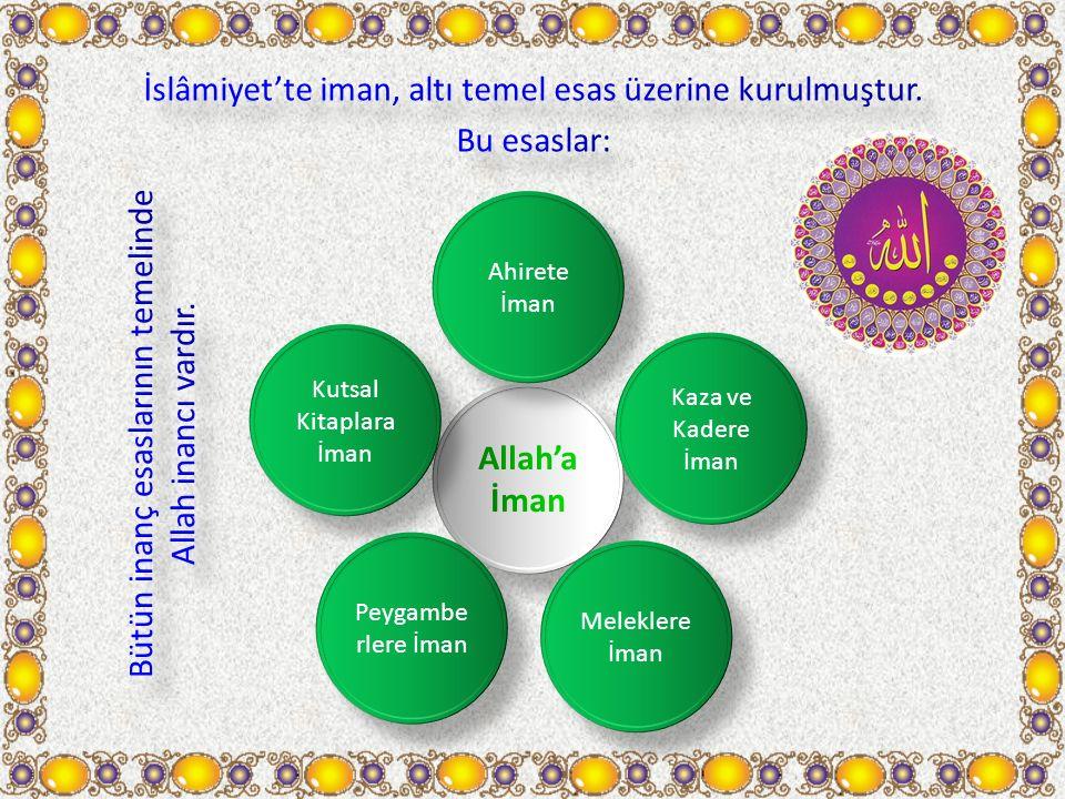 İslâmiyet'te iman, altı temel esas üzerine kurulmuştur. Bu esaslar: