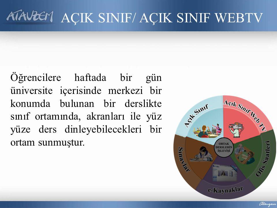 AÇIK SINIF/ AÇIK SINIF WEBTV