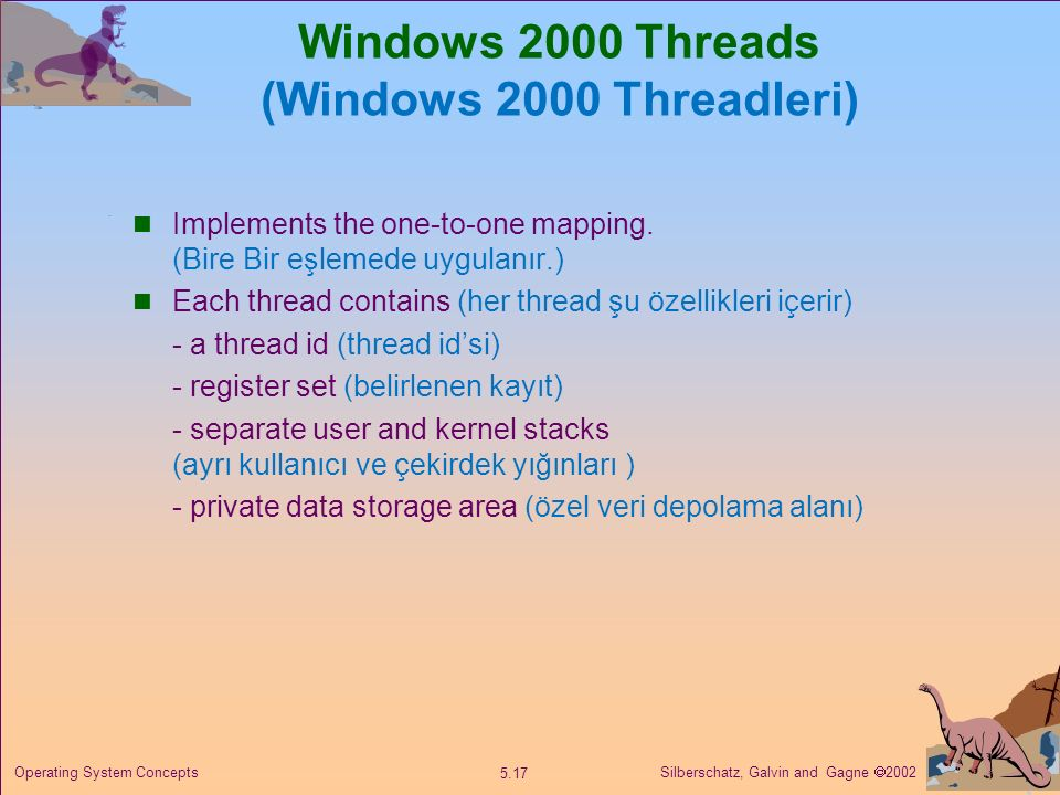 Windows 2000 Threads (Windows 2000 Threadleri)