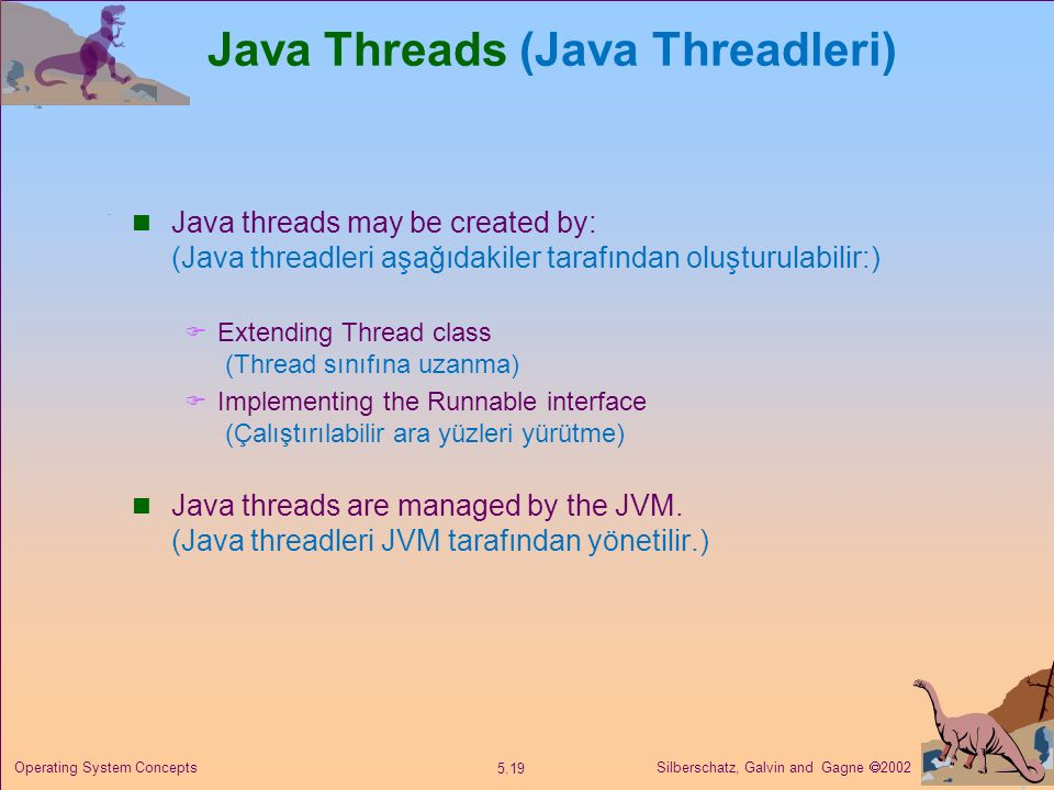 Java Threads (Java Threadleri)