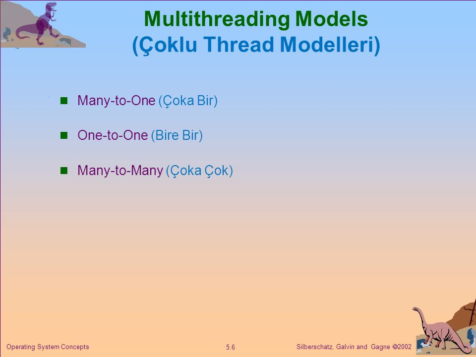 Multithreading Models (Çoklu Thread Modelleri)