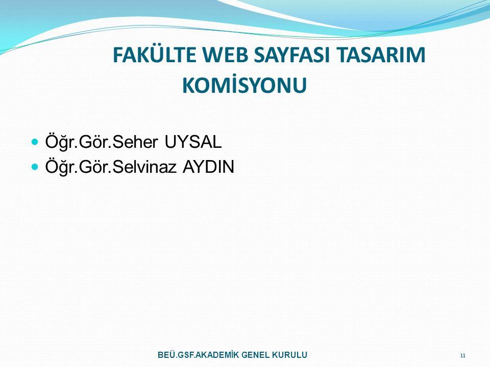 FAKÜLTE WEB SAYFASI TASARIM KOMİSYONU