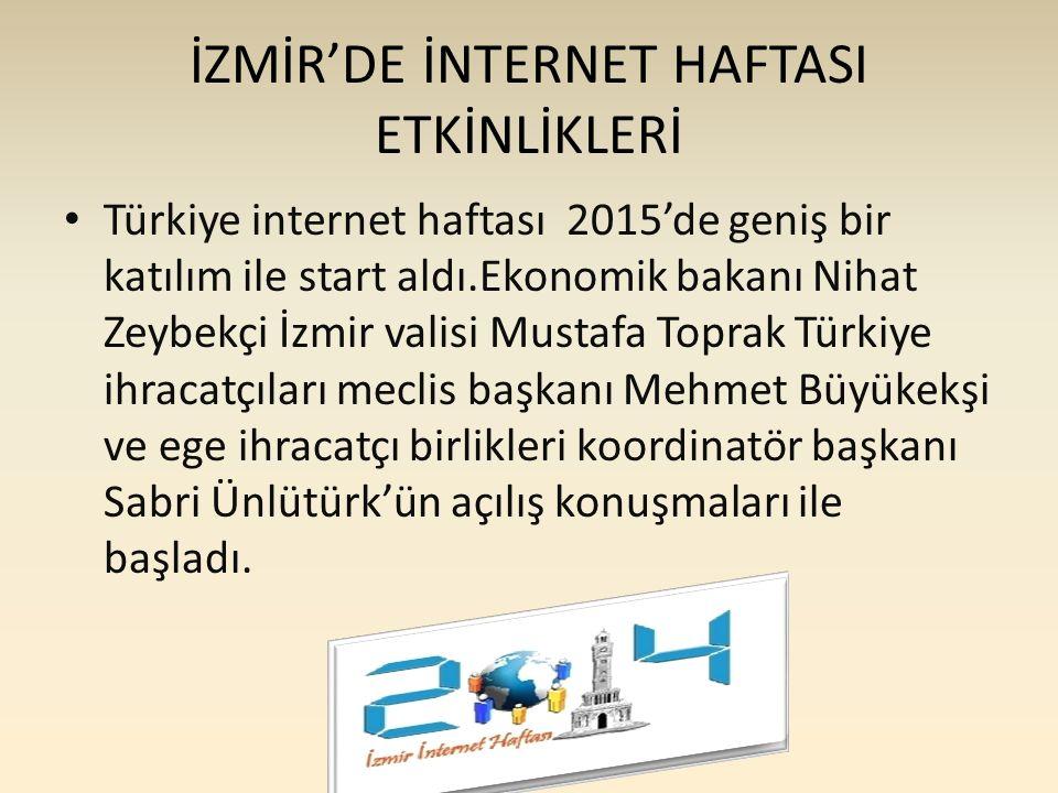 İZMİR'DE İNTERNET HAFTASI ETKİNLİKLERİ