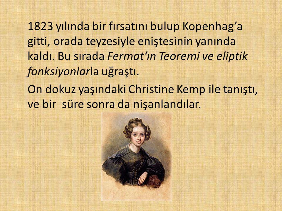 1823 yılında bir fırsatını bulup Kopenhag'a gitti, orada teyzesiyle eniştesinin yanında kaldı.