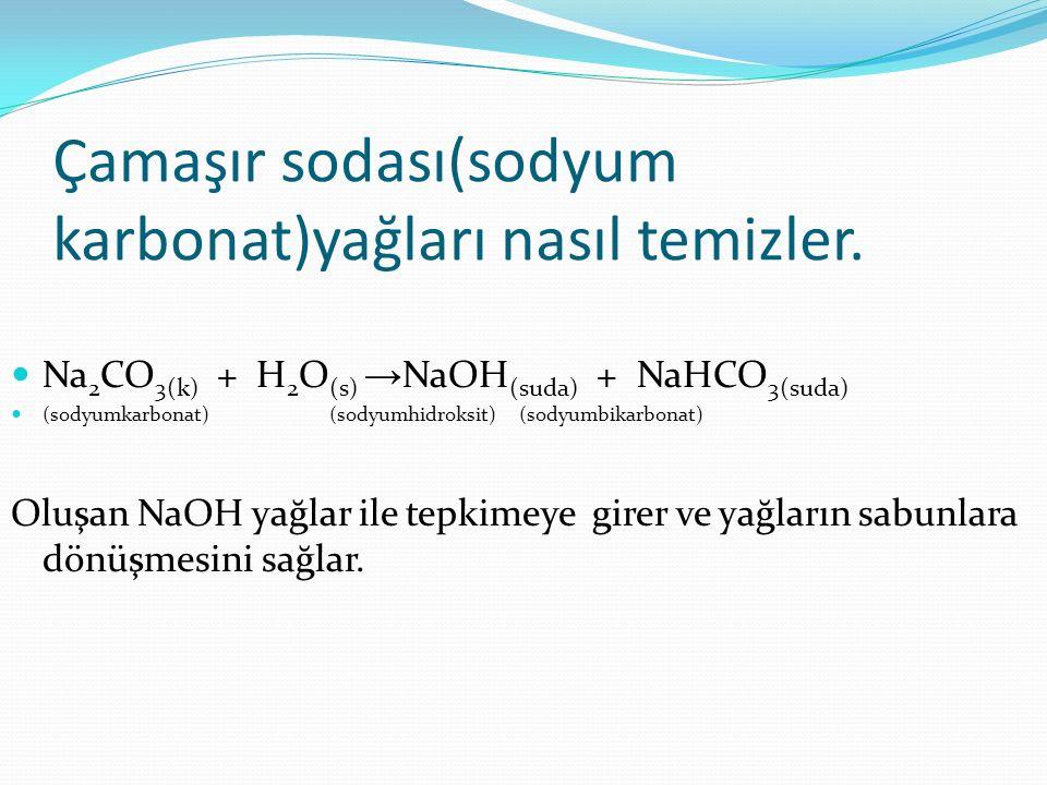 Çamaşır sodası(sodyum karbonat)yağları nasıl temizler.