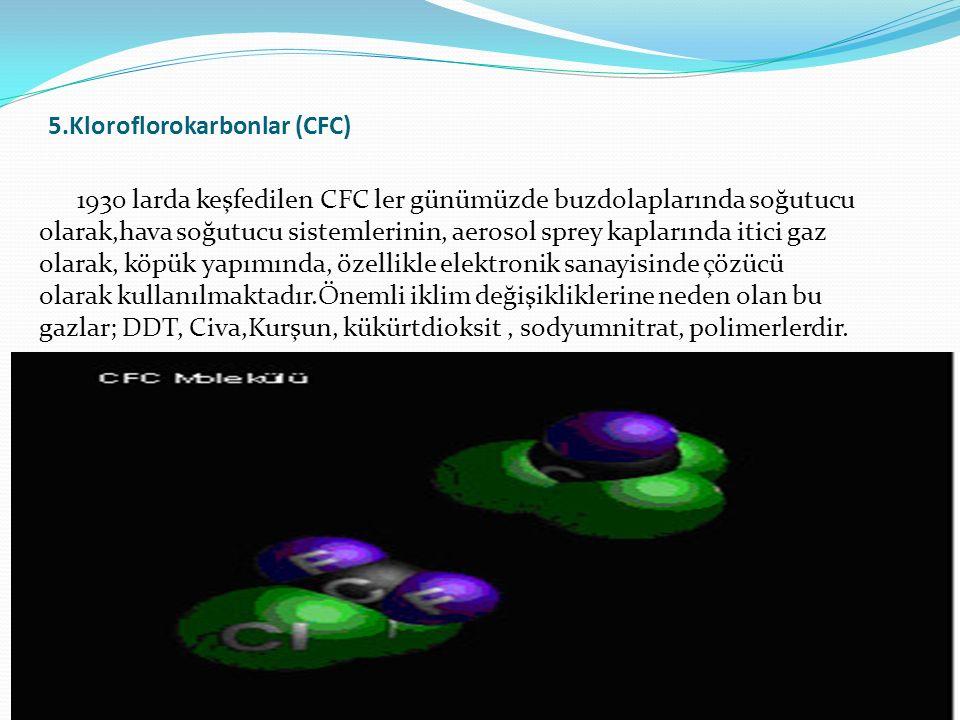 5.Kloroflorokarbonlar (CFC)