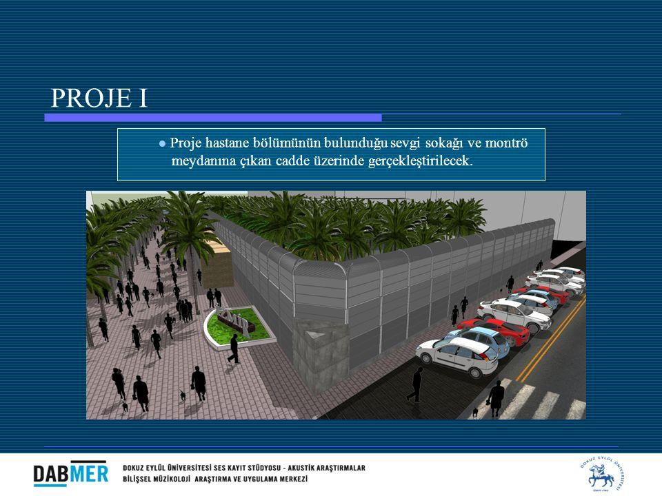 PROJE I ● Proje hastane bölümünün bulunduğu sevgi sokağı ve montrö
