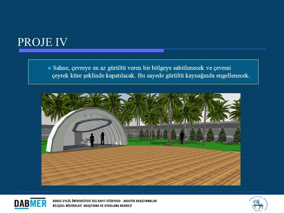 PROJE IV ● Sahne, çevreye en az gürültü veren bir bölgeye sabitlenecek ve çevresi.