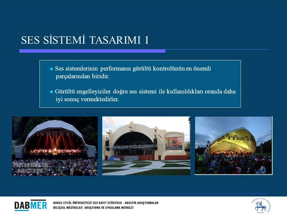 SES SİSTEMİ TASARIMI I ● Ses sistemlerinin performansı gürültü kontrolünün en önemli. parçalarından biridir.