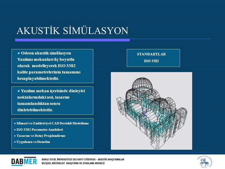 AKUSTİK SİMÜLASYON ● Odeon akustik simülasyon