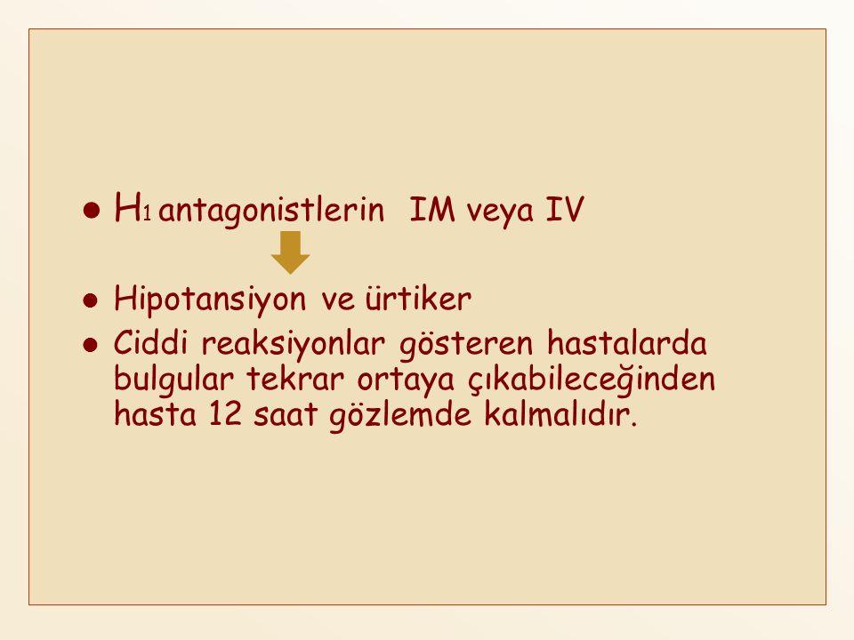 H1 antagonistlerin IM veya IV