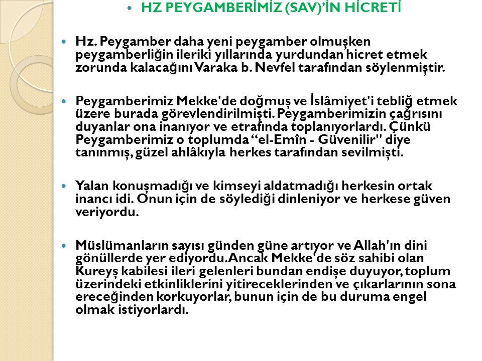 HZ PEYGAMBERİMİZ (SAV)'İN HİCRETİ
