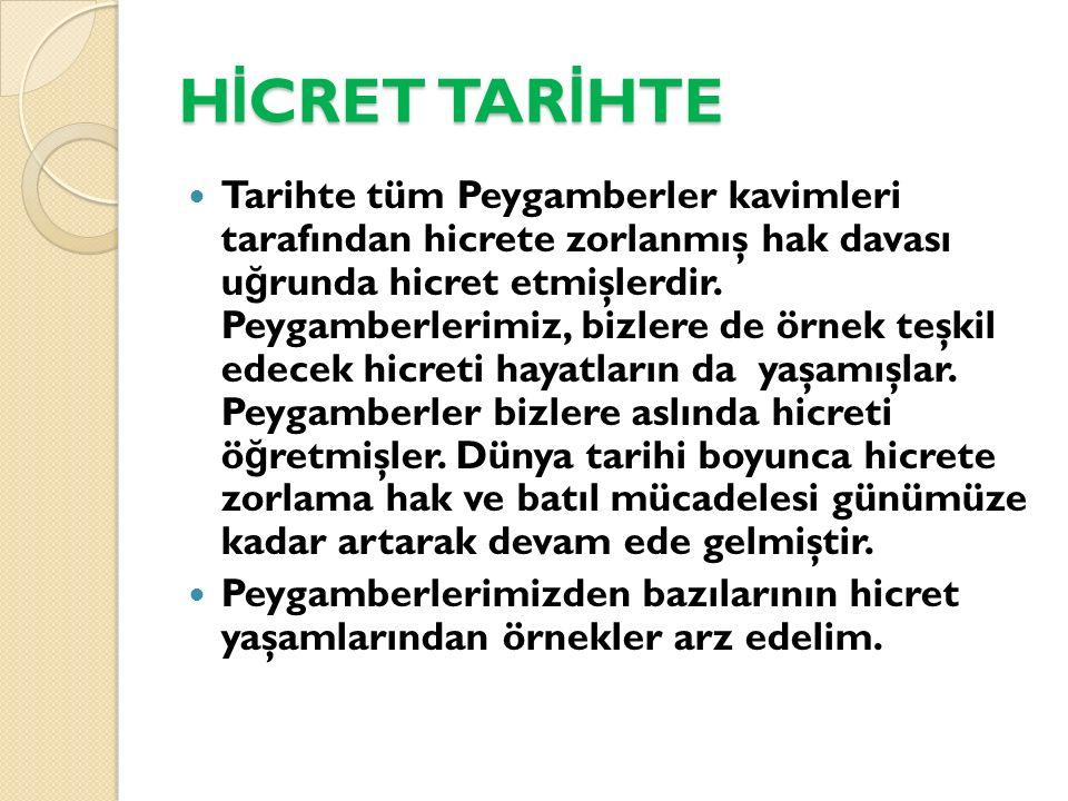 HİCRET TARİHTE