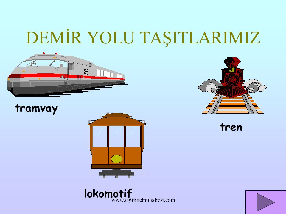 DEMİR YOLU TAŞITLARIMIZ
