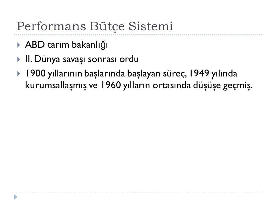 Performans Bütçe Sistemi