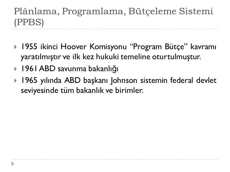 Plânlama, Programlama, Bütçeleme Sistemi (PPBS)