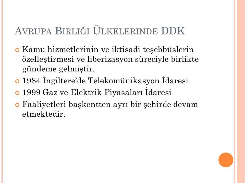 Avrupa Birliği Ülkelerinde DDK