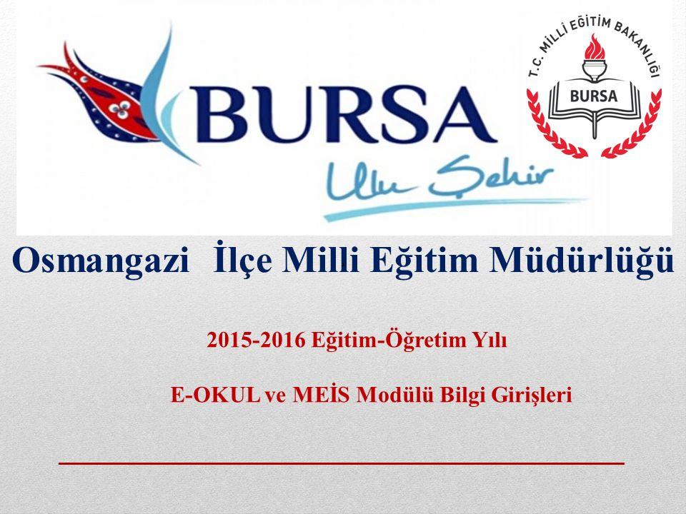 Osmangazi İlçe Milli Eğitim Müdürlüğü
