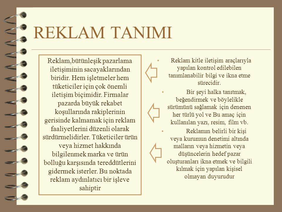 REKLAM TANIMI