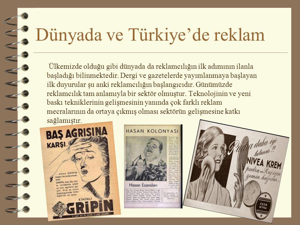 Dünyada ve Türkiye'de reklam