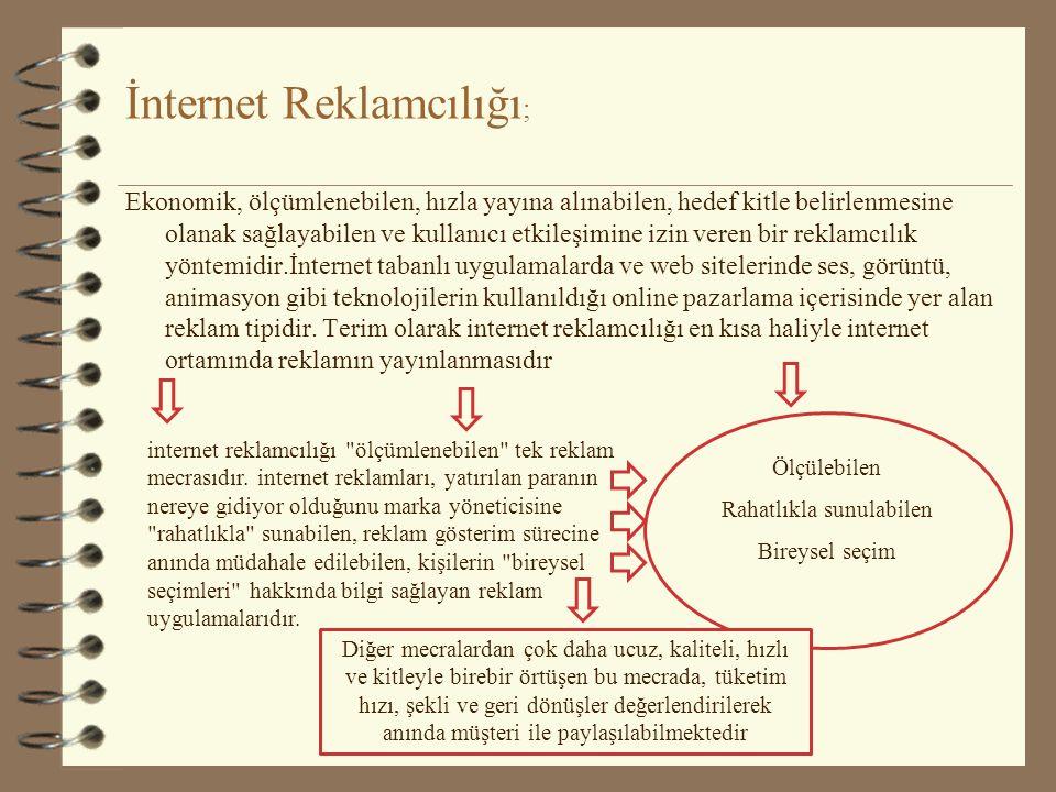 İnternet Reklamcılığı;