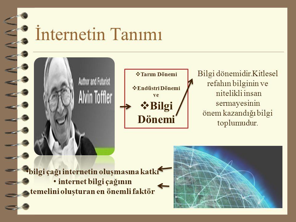 İnternetin Tanımı Bilgi Dönemi