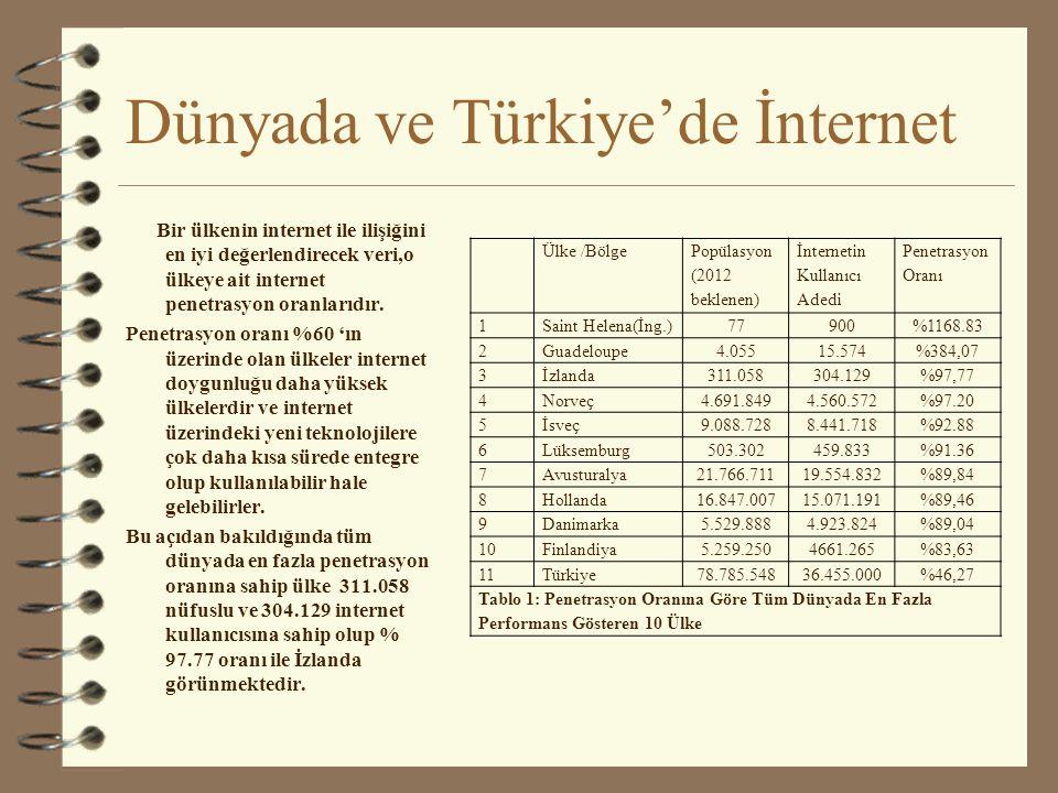 Dünyada ve Türkiye'de İnternet