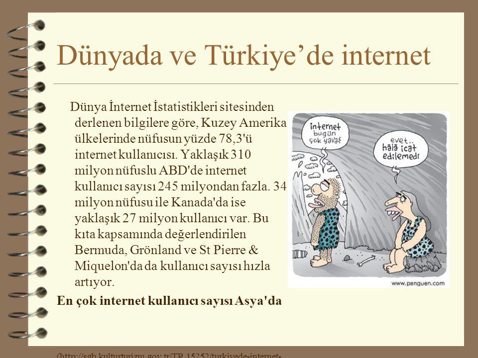 Dünyada ve Türkiye'de internet