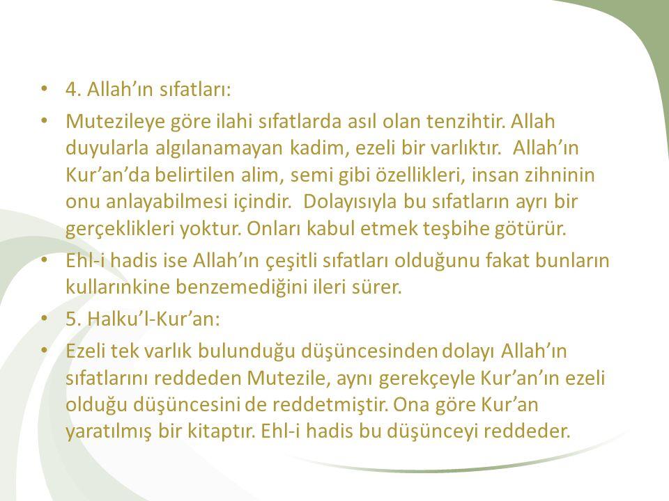 4. Allah'ın sıfatları:
