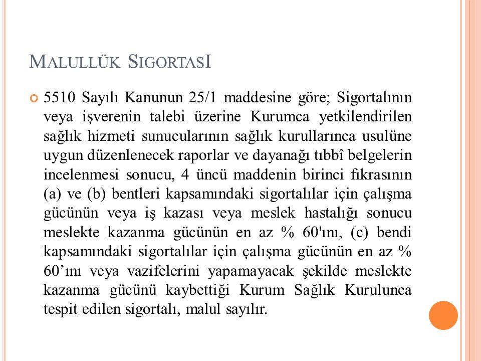 Malullük SigortasI