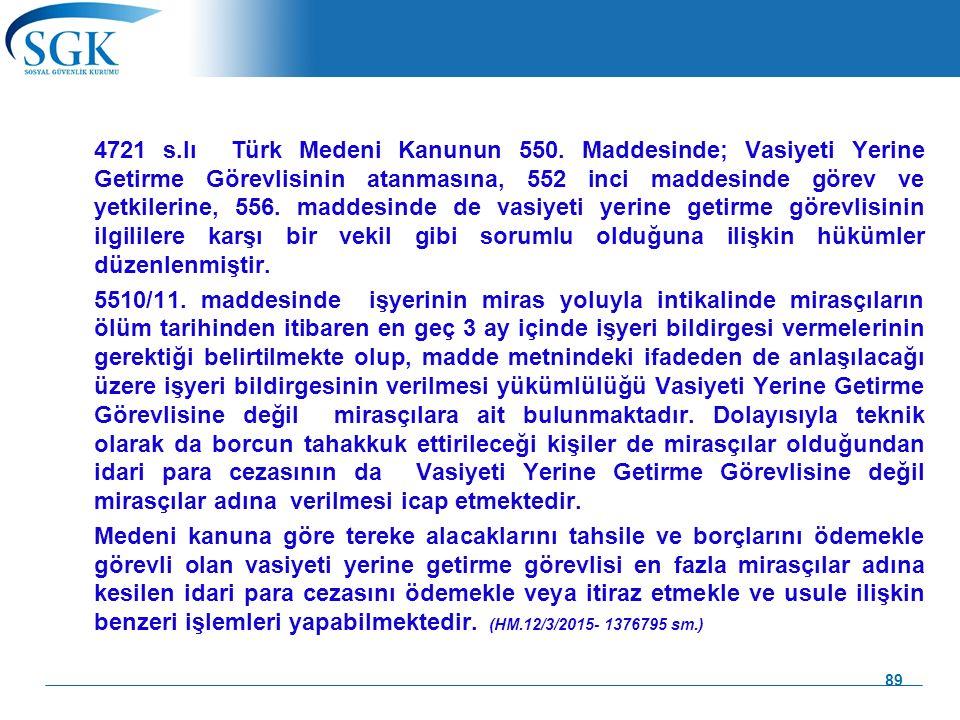 4721 s. lı Türk Medeni Kanunun 550