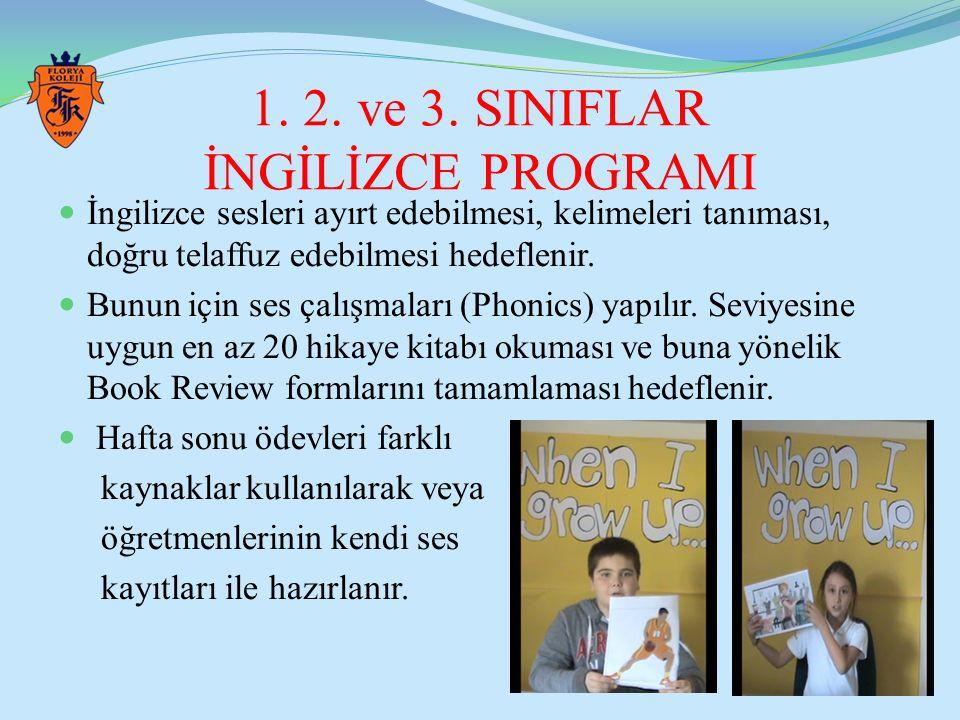 1. 2. ve 3. SINIFLAR İNGİLİZCE PROGRAMI