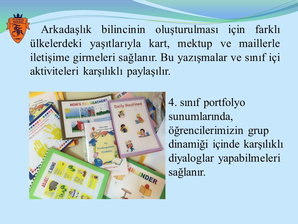 Arkadaşlık bilincinin oluşturulması için farklı ülkelerdeki yaşıtlarıyla kart, mektup ve maillerle iletişime girmeleri sağlanır. Bu yazışmalar ve sınıf içi aktiviteleri karşılıklı paylaşılır.