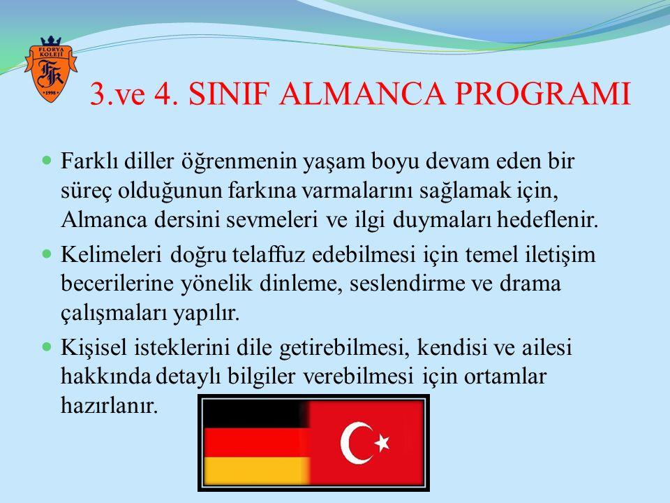 3.ve 4. SINIF ALMANCA PROGRAMI