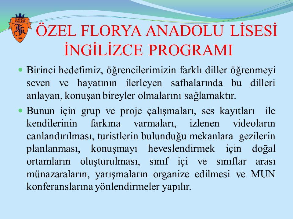 ÖZEL FLORYA ANADOLU LİSESİ İNGİLİZCE PROGRAMI