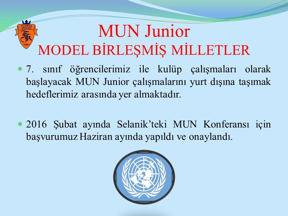 MUN Junior MODEL BİRLEŞMİŞ MİLLETLER