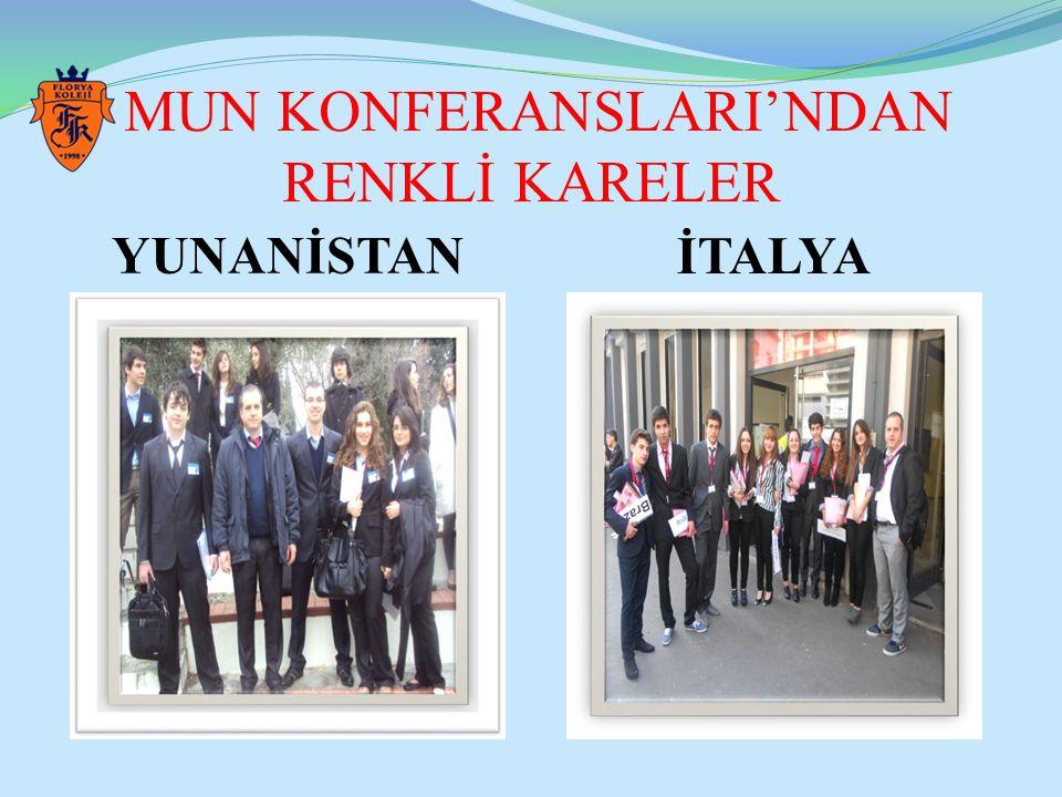 MUN KONFERANSLARI'NDAN RENKLİ KARELER