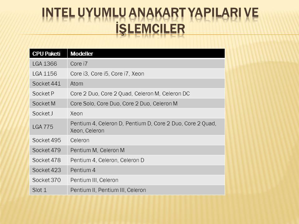 Intel Uyumlu Anakart YapIlarI ve İşlemciler