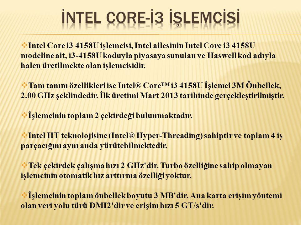 İNTEL CORE-İ3 İŞLEMCİSİ