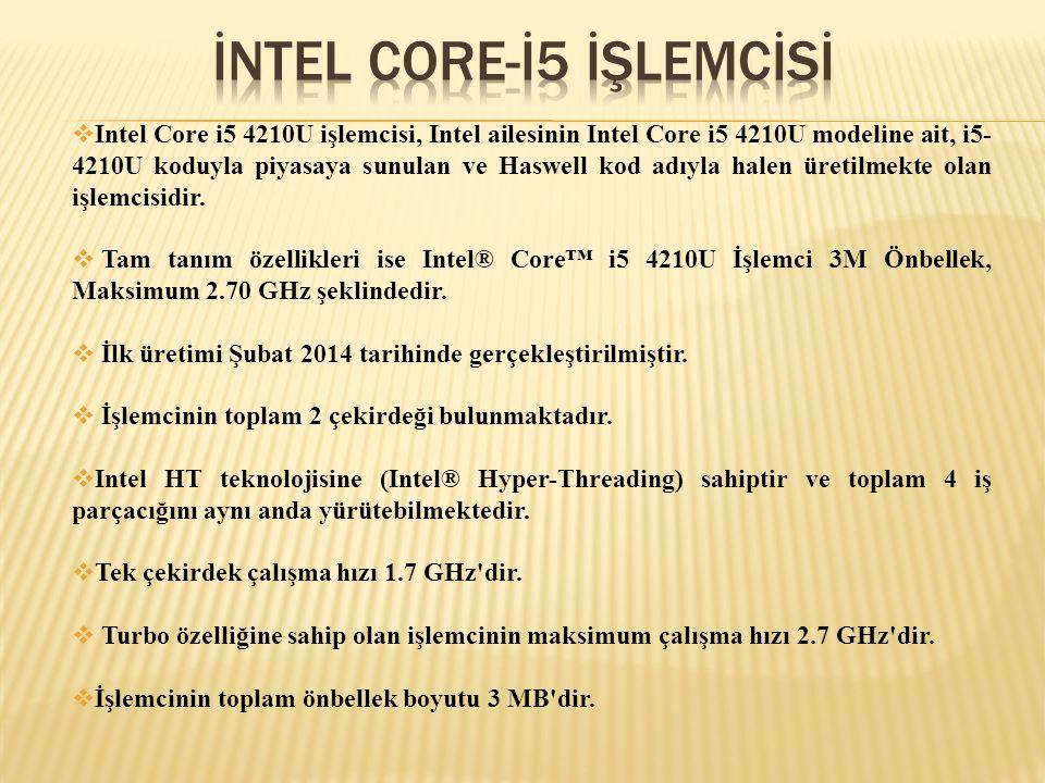İNTEL CORE-İ5 İŞLEMCİSİ