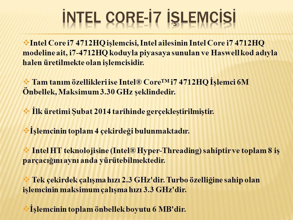 İNTEL CORE-İ7 İŞLEMCİSİ