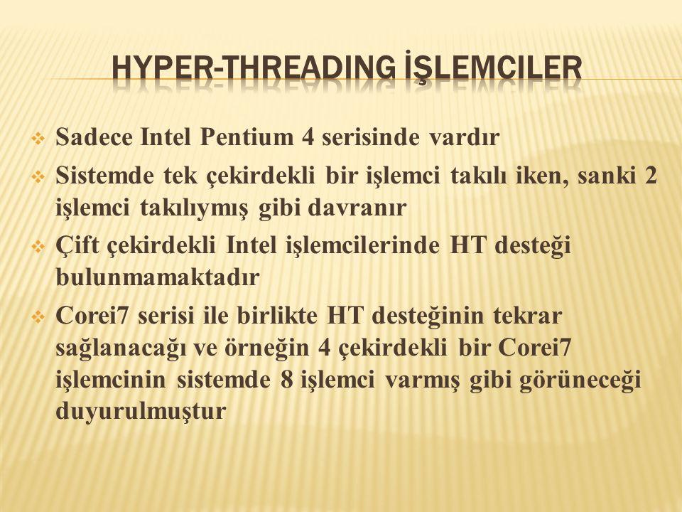 Hyper-Threading İşlemciler