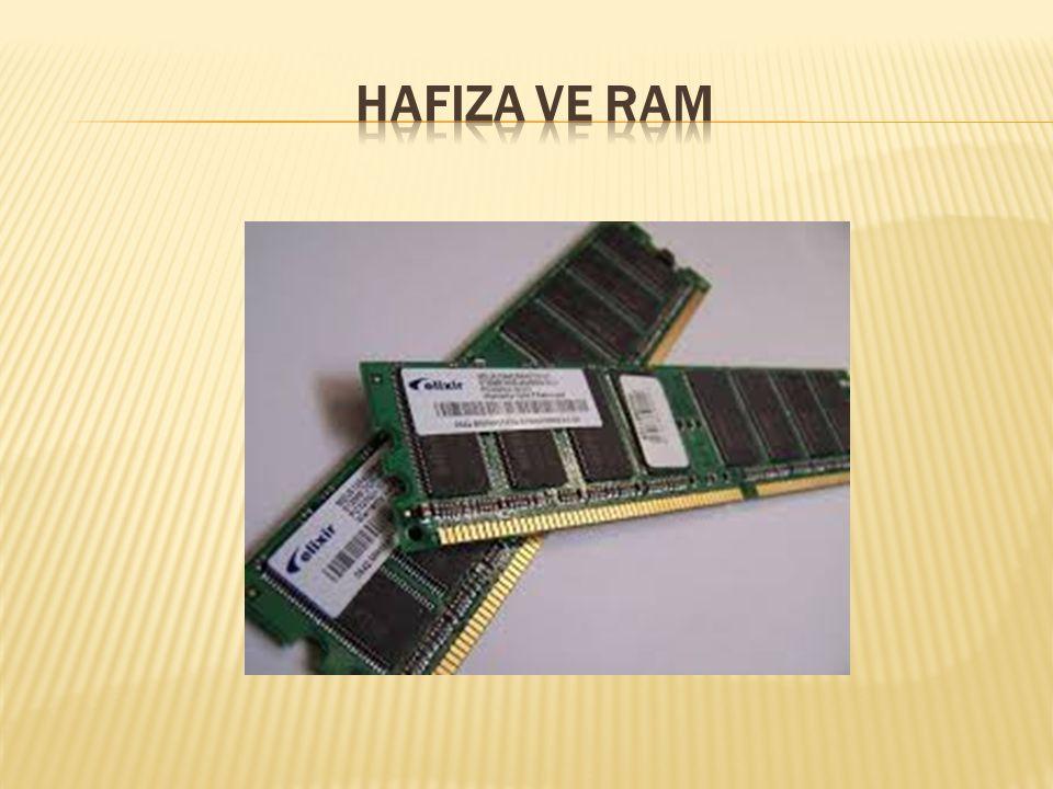 HafIza ve RAM